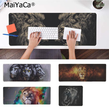 MaiYaCa Hot Sales Animal ferocious lion Silicone large/small Pad to Mouse Game Free Shipping Large Keyboards Mat