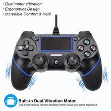 Controlador/mando de juegos con cable para Playstation 4, mando para PS4, Joystick, para consola PS 4