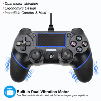 Wired Gamepad Controller For Playstation 4 for PS4 Controller For PS3 Joystick Gamepads for PS 4 Console usb wired gamepad for playstation 4 joystick gamepads double shock joypad for pc for ps4 controller 2 2m cable for ps3 console