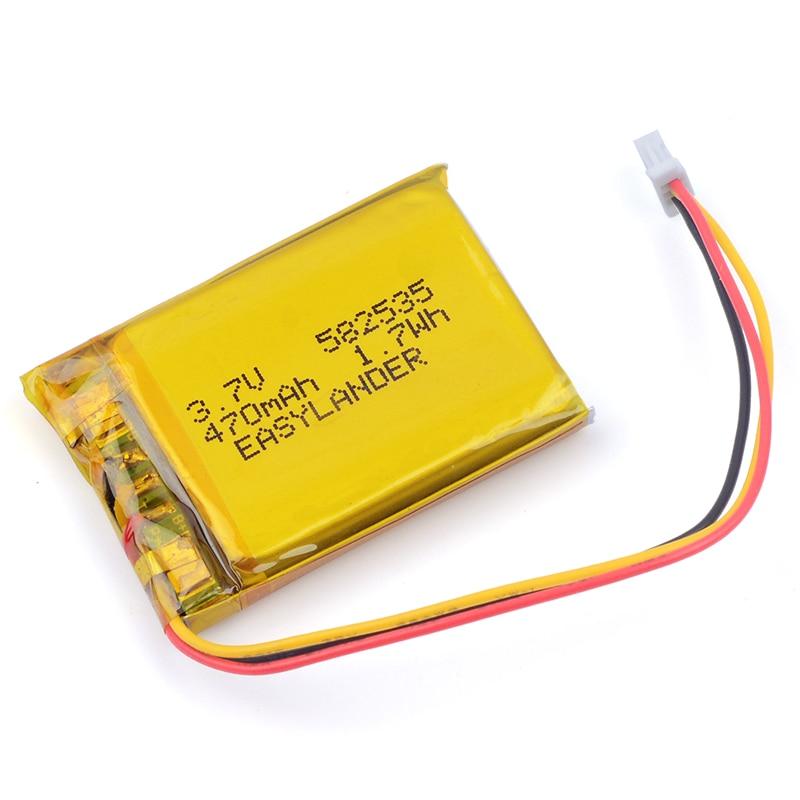 582535 602535 3.7V 470mAh Li-Polymer Li-ion Battery For SP5 GPS papago DVR MiVue 366 368 358 358P 658P HP F210 HP F310 WP7 A5