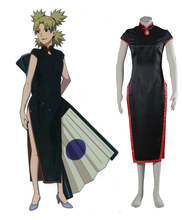 Free Shipping font b Naruto b font in China Temari Cheongsam Dress Anime font b Cosplay