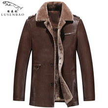 S- 4XL!!! Winter leather jackets Men Faux Fur Coats Men's Leather Jacket Casual Motorcycle Brand Clothing men leather jacket