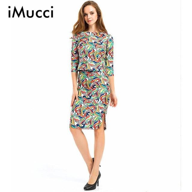a29b5b93fb Casual 2 Piece Skirt Set Women Vintage Floral Print 3/4 Sleeve Crop Tops +  Split Bodycon Midi Skirt Business Formal Office Suits