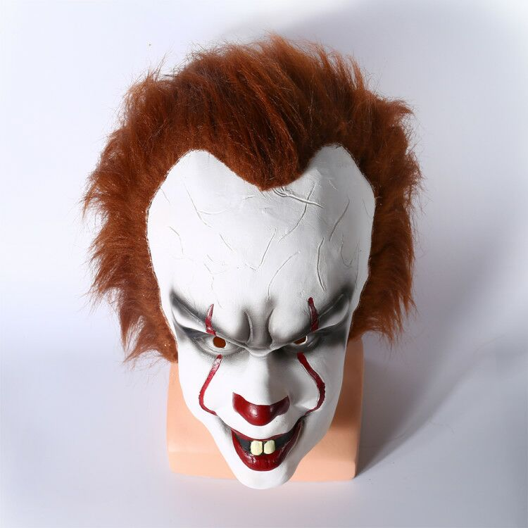 Top Quality Stephen King's It Mask Pennywise Cosplay Mask Headgear For Halloween Party It Latex Mask Free Shipping