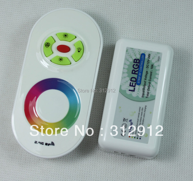2.4G RGB LED Touching Remote Controller,DC12-24V input,6A*3 channel output