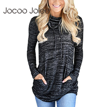 cb1045c0f4d Jocoo Jolee Women Cowl Neck Tops Long Sleeve Tunic Drawstring Shirts  Pullover Sweatshirt with Kangaroo Pockets