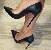 Women Pumps, High Heels Shoes 12cm Stiletto Pointed Toe Woman Sexy Party Shoes Office Lady Wedding Party High Heels Plus Size