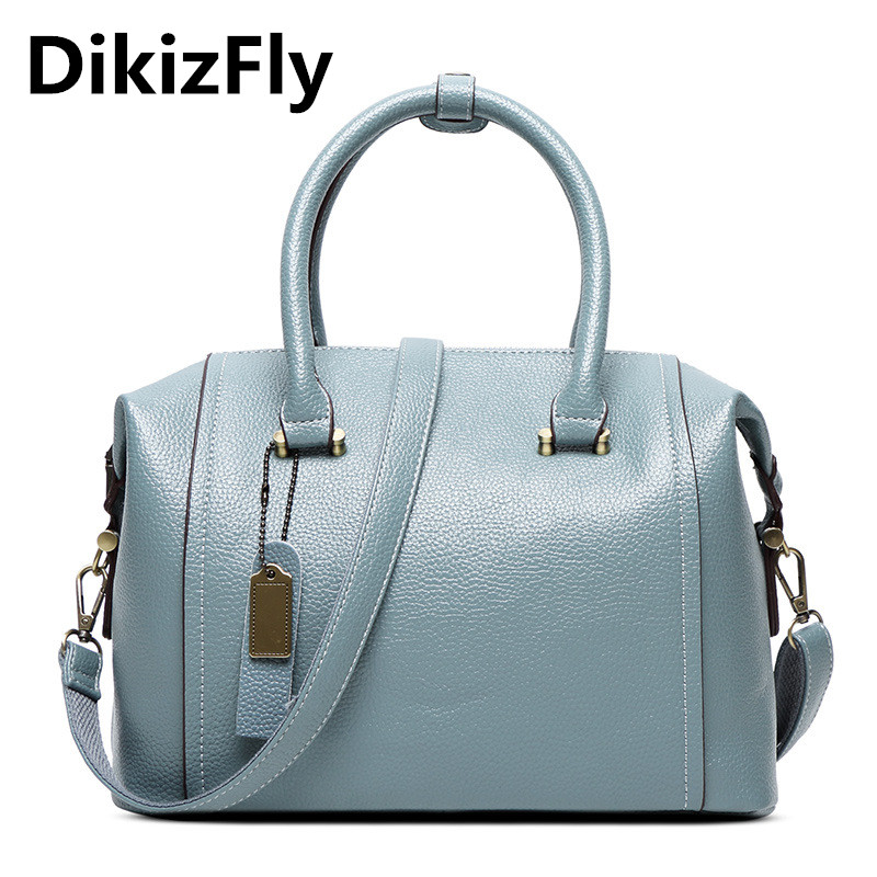 DikizFly!New Pillow Women Bags Boston Women PU Leather Handbags Shoulder Bag Ladies Casual Fashion Messenger Bags Hot Sale Totes dikizfly soft genuine leather women handbags casual totes bag real leather brand work handbag purse elegant messenger bags bolsa