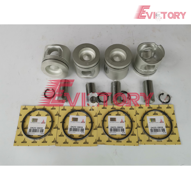 US $820 0 |For Volvo EC140B engine rebuild kit D4D piston + ring cylinder  liner gasket bearing-in Pistons, Rings, Rods & Parts from Automobiles &