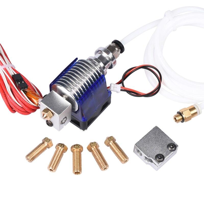 E3D V6 J-la salida Hotend extrusora volcán boquilla para 1,75/3,0mm filamento calentador de ventilador termistor PTFE directa Wade para 3D impresora parte
