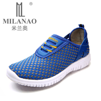 MILANAO 2016 New men & Women Light Sneakers Breathable Mesh Female Lady Trainers Walk Outdoor Sport Comfortable Running Shoes
