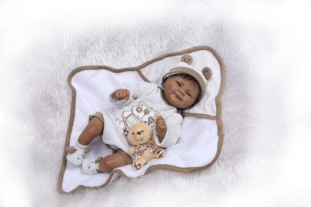 Npk 살아있는 boneca reborn 연약한 실리콘 진짜 실리콘 reborn 아기 인형 까만 bebe 뜨거운 장난감 여자를위한 크리스마스 선물-에서인형부터 완구 & 취미 의  그룹 3
