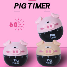 New Timer Kitchen 60 Minute Cooking Mechanical kitchen alarm minute Panda Cartoon no batteries 3.6*6.9CM
