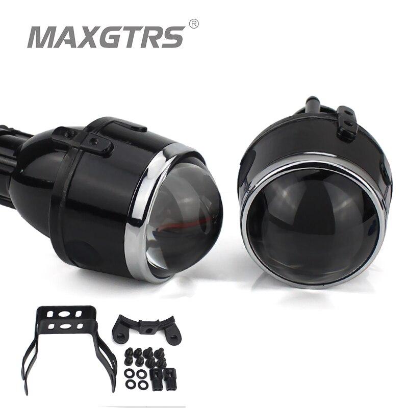 2x Универсальные HID Биксеноновые Противотуманные фары проектор линзы вождения лампы для модификации для Ford Honda CRV Fit Subaru Renualt Suzuki Swift