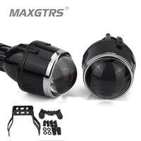 2x Universal HID Bi xenon Fog Lights Projector Lens Driving Lamps Retrofit For Ford Honda CRV Fit Subaru Renualt Suzuki Swift