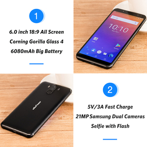 "Image 4 - Ulefone Power 3  Mobile Phone 6GB+64GB  6.0""  Smartphone 6080mAh Octa Core 21MP Quad Camera Face ID 4G Android"