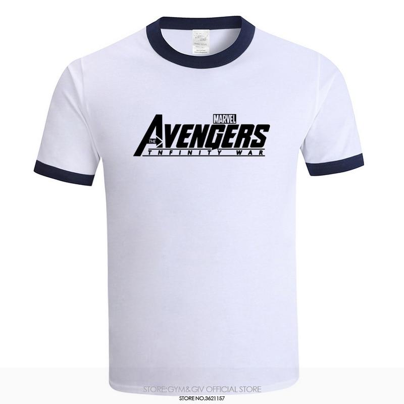 0233f49f1 2018 New Fashion Brand MARVEL tees AVENGERS INFINITY WAR T-Shirt Men Cotton  Short Sleeves Casual Male Tshirt Marvel T shirts Men