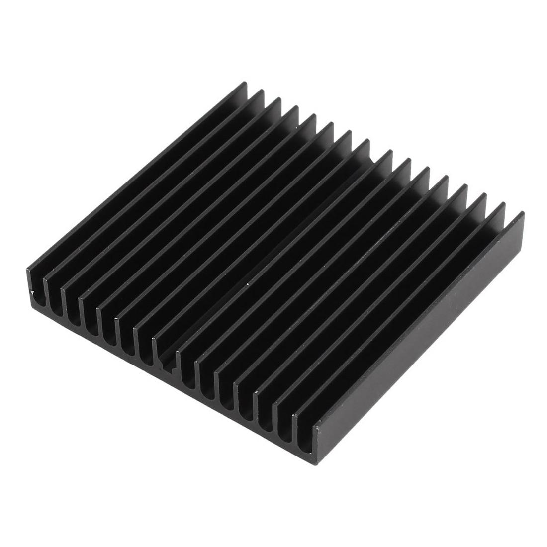 Hot 1 pcs Aluminum Radiator Heat Sink Heatsink 60mm x 60mm x 10mm Black 5pcs lot pure copper broken groove memory mos radiator fin raspberry pi chip notebook radiator 14 14 4 0mm copper heatsink