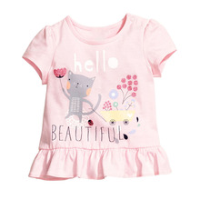 Brand New Design Children Cartoon Clothing 1-6years Kids Girl's Summer Cotton Short Sleeve Tee T-shirts Tops T0018