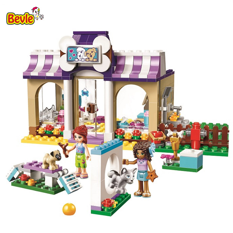 10558 Bela Friends Series Heartlake Puppy Daycare Model Building Block Bricks Compatible With Friends 41124 bela 10166 girls friends heartlake city school building block sets assemble bricks toy compatible 41005