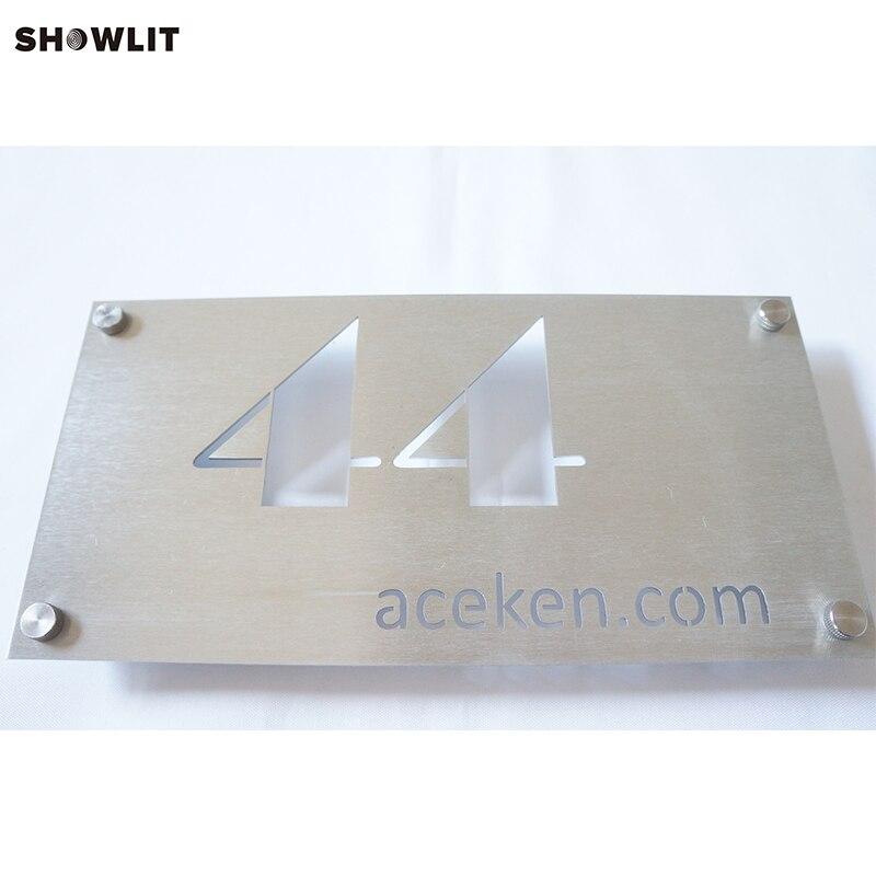 Lettres et numéros d'adresse de maison personnalisés signe de numéro de maison en plein air