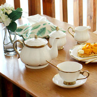 Набор кофейных чашек Континентальный Пномпень костяного фарфора кофейная чашка чайный горшок чайный набор посылка керамический английски...