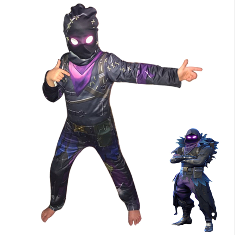 Crow costume for a costume party, Street costume for children, overalls for boys, costume for a costume party, Children's Hallow