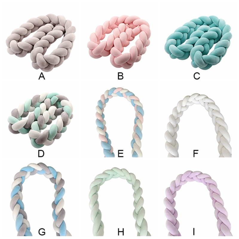 New Braided Nursery Bed Cradle Decor Corlorful Bed Bumper  Children Room Hand Woven Knots Crib Baby Bed Bumper Newborn Knot Gift Детская кроватка