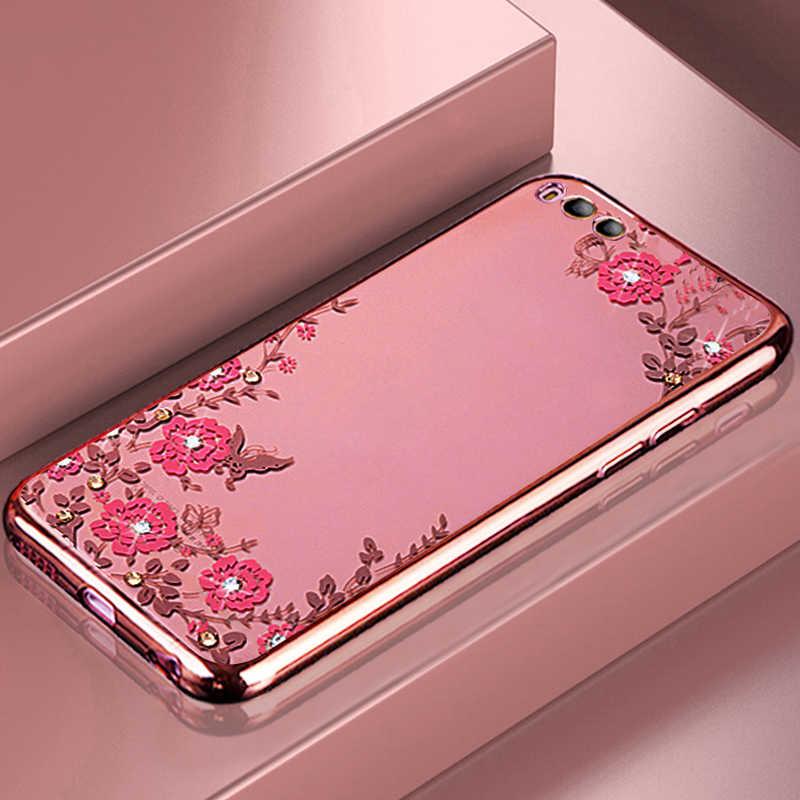YonLinTan coque, чехол, чехол для xiaomi mi6 mi 6, прозрачный розовый 3d чехол для телефона, мягкий силиконовый чехол, роскошный розовое золото