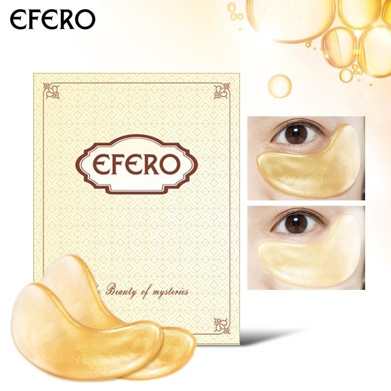 EFERO 30 шт. 15 пара 24 К Золото коллагеновая маска для глаз Сыворотки патчи под гель для глаз колодки темные круги антивозрастная маска для сна ух...