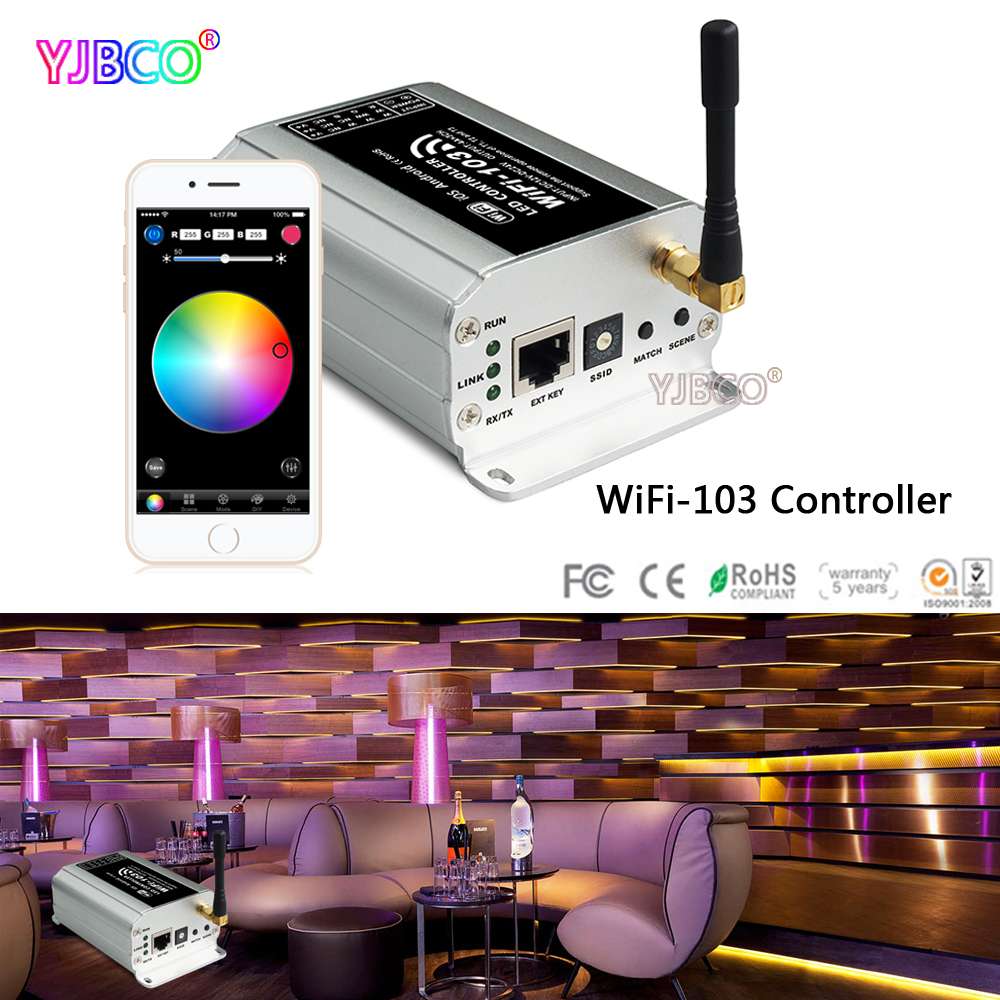 wifi-103 LED WiFi Controller; 2.4G Wireless T1 T2 T3 Remote;T3-CC T3-CV Receiver for led strip light lamp 5pcs st10f269 t3
