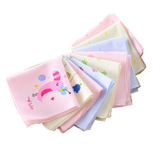 Мультяшный детский марлевый Платок Квадратный Карманный платок носовой платок с принтом детское портативное Полотенце 22*22 см AD0439