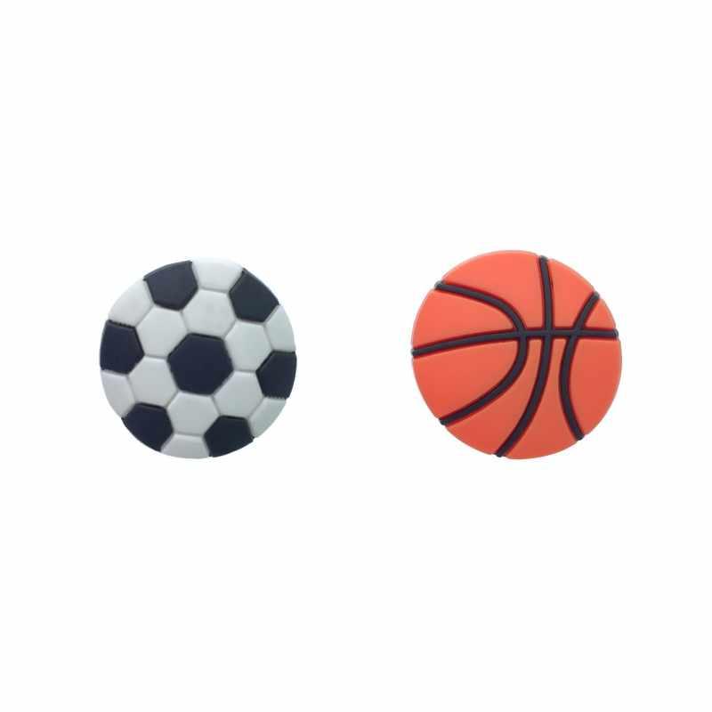 Nowy 1 sztuk koszykówka piłka nożna pcv Charms buty sportowe akcesoria klamry Fit bransoletki piłka nożna Croc JIBZ dzieci najlepsze prezenty