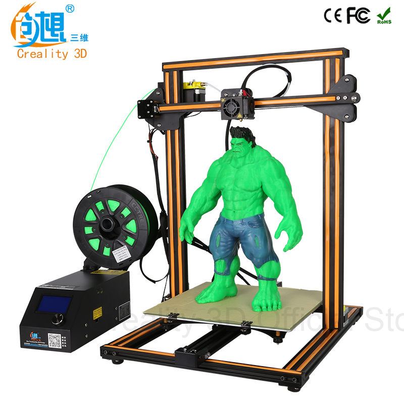 CREALITY 3D Official CR-10S/CR-10 DIY 3D Printer Kit 300*300*400mm Printing Size Dual Z Rod Filament Detector/Sensor Optional metal frame linear guide rail for xzy axix high quality precision prusa i3 plus creality 3d cr 10 400 400 3d printer diy kit