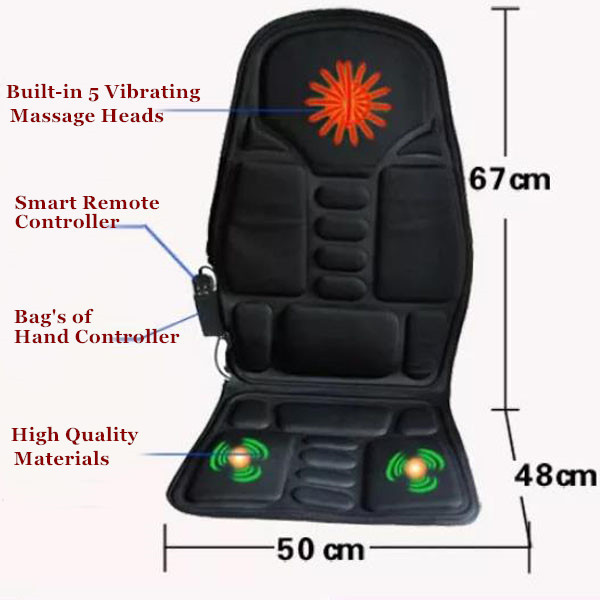 Portable Car Massage Seat Pad Heated Full Back Massage Cushion For Sale 2016 As Seen on TV spa массажер as seen on tv sonic