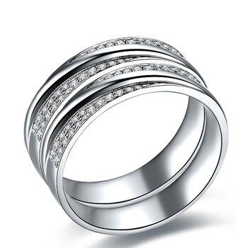 0.28 Carats I-J/SI Luxury Slant Studded  Couple's  Diamond Wedding Bands 2