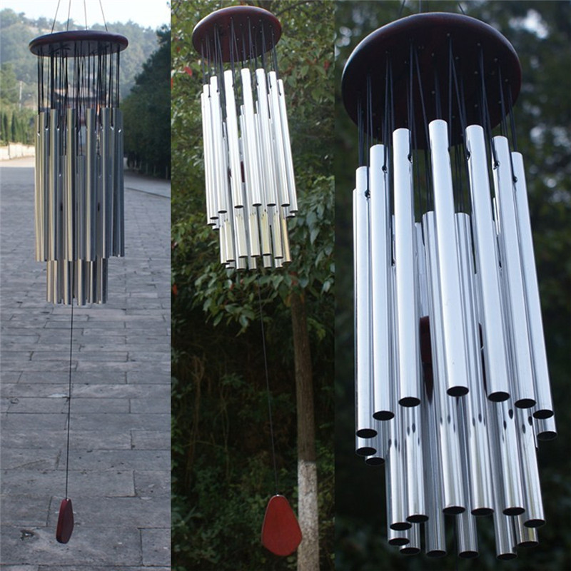 Antique Incroyable Grâce 27 Tubes Carillon Chapelle Vent Cloches Carillons Éoliens Porte Ornement Accrochant Carillons Éoliens Décoration de La Maison