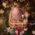Новорожденный реквизит для фотосъемки Ретро тканый ротанг корзина для фотосессии реквизит для фотосессии контейнерная рама фотостудия (то...