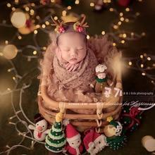 цены на Newborn photography props retro woven rattan basket baby photo shooting props container frame photo studio (only the Basket )  в интернет-магазинах