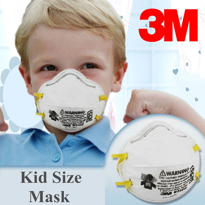 2 Pcs 3M 8110S Mask Small Size Protector Children Particulate Respirator Mask N95 Standard Health Care Against Non-oil