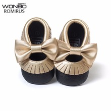 10models 2018 New Arrival Handmade Soft Bottom Fashion Tassels Baby Girl Shoes Moccasin Newborn PU leather