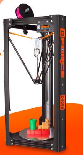 NEWEST DFORCE 3D printer, 400S Delta, deltabot rapid prototyping, high precision 3D printer web page