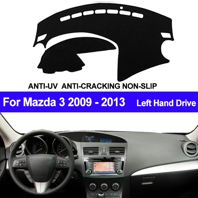TAIJS Car Dashboard Cover For Mazda 3 M3 BL 2009 2010 2011 2012 2013 Automobile Dash Mat Dashboard Pad Carpet Anti-UV Anti-slip