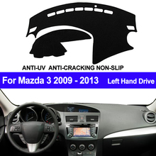 TAIJS Car Dashboard Cover For Mazda 3 M3 BL 2009 2010 2011 2012 2013 Automobile Dash Mat Dashboard Pad Carpet Anti UV Anti slip