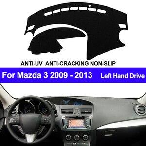 Image 1 - TAIJS 자동차 대시 보드 커버 For Mazda 3 M3 BL 2009 2010 2011 2012 2013 자동차 대시 매트 대시 보드 패드 카펫 안티 uv 미끄럼 방지