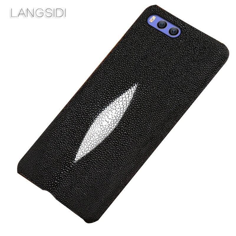 LANGSIDI brand mobile phone case Pearl fish half a pack phone holster For Xiaomi Note3 phone case handmade custom processing