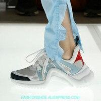 2018 модные увеличивающие рост Тангенциальный кроссовки женские обуви для представления на толстой платформе криперы женские повседневные