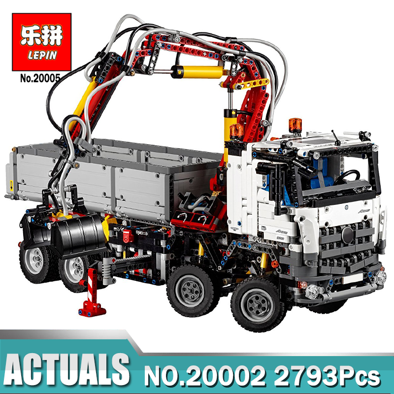 LEPIN 20005 2793Pcs Technic series Arocs truck Model Building blocks Bricks Classic Compatible LegoING 42043 Boy Gift Toys lepin 22001 pirate ship imperial warships model building block briks toys gift 1717pcs compatible legoed 10210