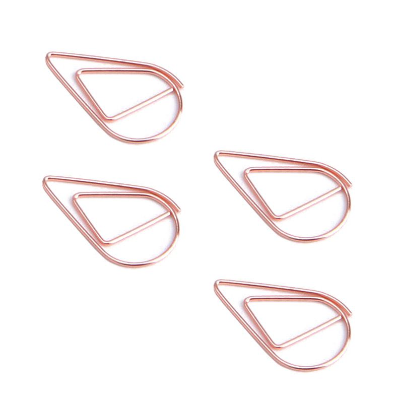 200 Pcs Rose Gold Cute Paper Clips, Smooth Drop-Shaped Paper Clips For Office School Student(1 Inch / 25mm)
