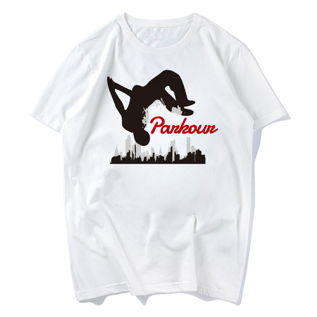 8547783c Children's Cartoon Hardcore Parkour Tee Shirts Boy and Girl Funny Parkour T-shirts  Kid's Casual Kawaii Tops Tee